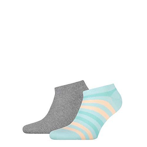 Tommy Hilfiger Mens Duo Stripe Men's Sneaker-Trainer (2 Pack) Socks, Mint Combo, 39/42