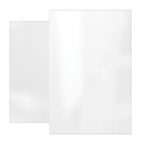 Risch AAP 4.25X11/8.5X14, Pack of 24, Removable pocket providing two additional Viewing sides to your Menu, All Clear vinyl, 4.25' x 11' with 8.5' x 14' tab