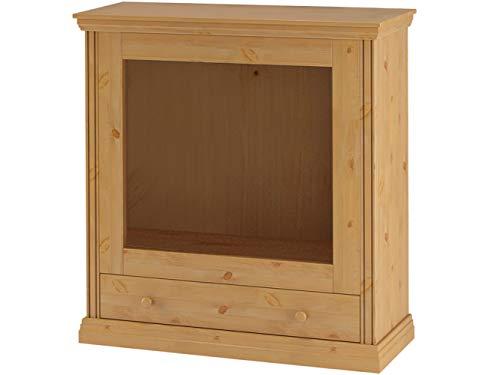 Kaminumrandung Kaminumbau Kamin Landhaus Stil - Dekokamin Kiefer massivholz 105 x 35 x 110 cm (gebeizt geölt)