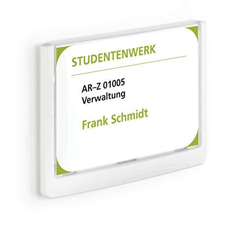 Durable 486102 Click Sign Türschild (149 x 105,5 mm, zum Ankleben oder Anschrauben) weiß