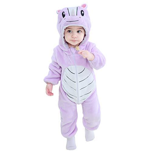 MICHLEY Bebé Mameluco Niños y Niñas Animales de Pelele Pijama Rinoceronte por 13-18 Meses