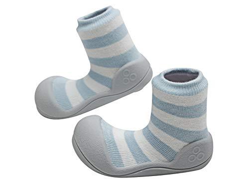 Attipas Natural Herb (Blau, 25.5) - Ergonomische Baby Lauflernschuhe | Kinder Barfußschuhe Hausschuhe