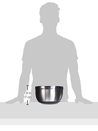 Winco Mixing Bowl with Silicon Base, 8-Quart,Stainless Steel, Black New Jersey