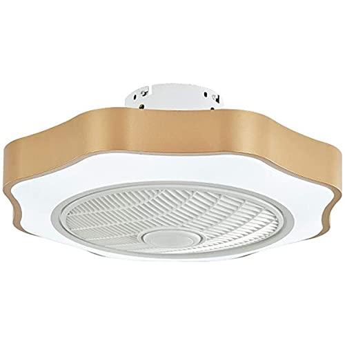 KISAD Ventilador de Techo Industrial con Luces Iluminación de Ventilador de Techo LED Luz Ajustable Velocidad de Viento Dimmable Control Remoto Moderno Fans de Techo Lámpara (Color : Metallic)