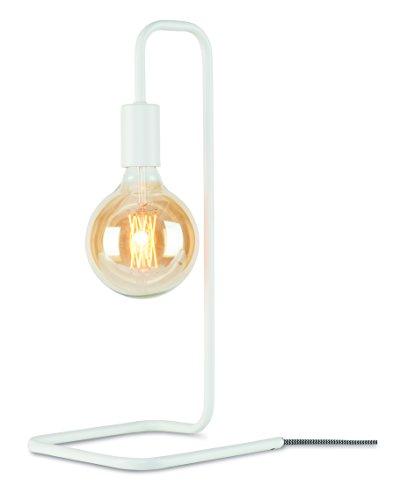 It's about RoMi LONDON/T/W Lampe à poser, Fer, E27, 40 W, Blanc, 20 x 20 x 44 cm