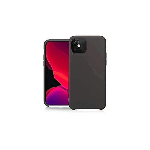Pure Touch - Carcasa de silicona para Apple iPhone 12 Mini, color negro