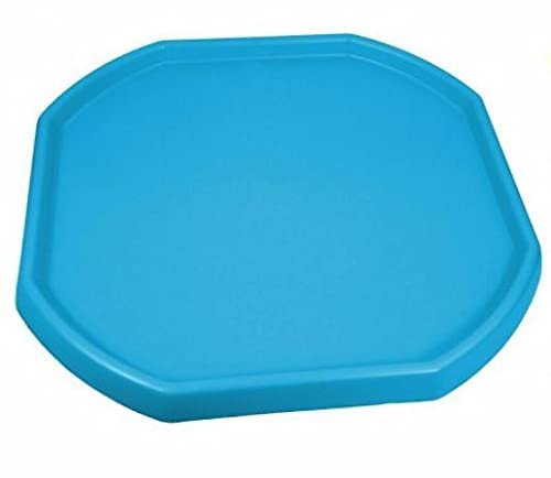 Children Kids Colour Small Mixing Tray Plastic for Playing Toy Sand Pool Pit Water Game Garden Beach Made in UK (Sky Blue)