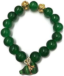 Fashion Men or Women Bracelet Feng Shui with Lucky Stone Wu Lou for Attract Money and Wealth