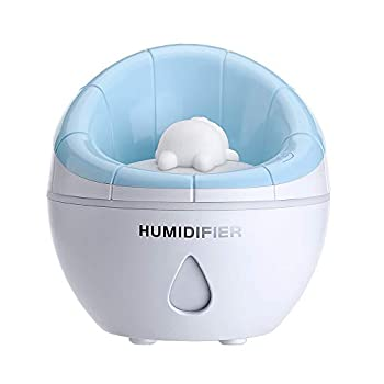 COTREE USB Small Sofa Humidifier Mini Cool Humidifier 350ml Water Volume One Touch Shut-Off for Home Office Bedroom  Blue