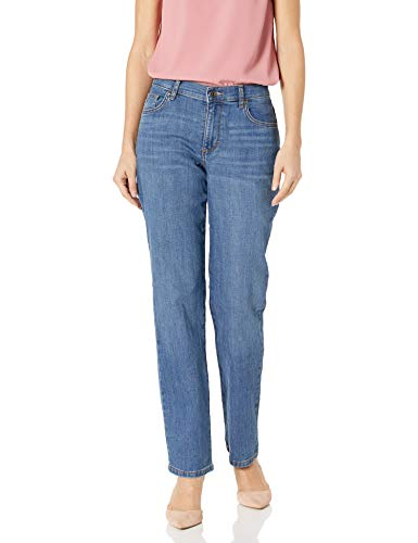 LEE Women's Relaxed Fit Straight Leg Jean, Meridian, 8 Long