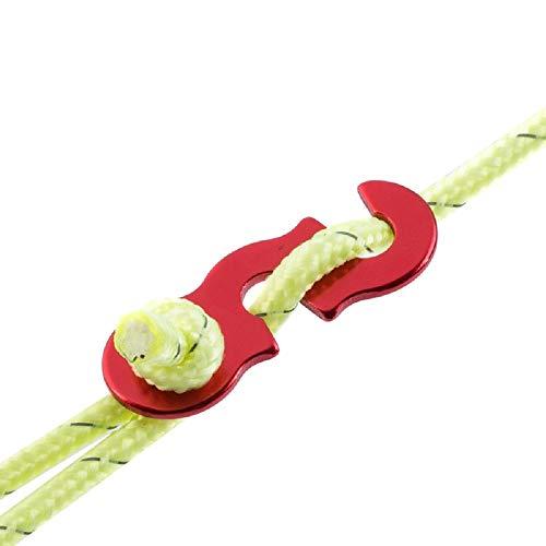 Naturehike Rapide Knot Tente Vent Corde Boucle 3 Trous Antislip Camping Randonn�e de Serrage Crochet Vent Corde Buckles avec Corde 12M