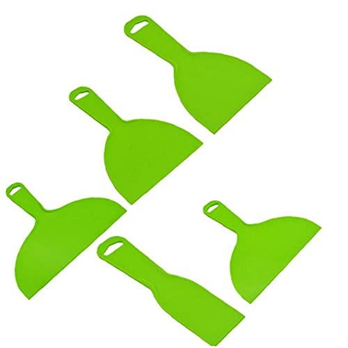 Wallpaper Schrapers Set Steel Putty Filling schraper Metal Verf Schrapers Behangafstomer Remover Tool Green 5PCS