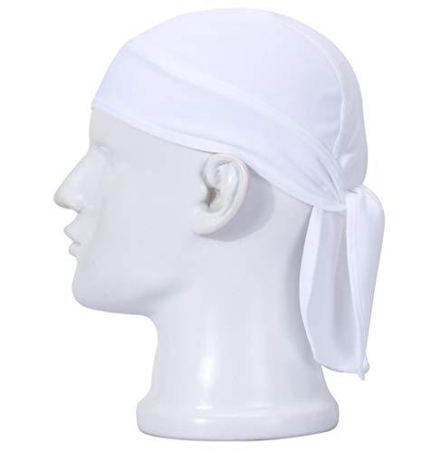 HASAGEI Sports Bandana Cap Herrem Damen Biker Bandanas Kopftuch Hat - Weiß