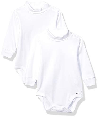Gerber Baby 2-Pack Long Sleeve Turtleneck Onesies Bodysuits, White, 3T