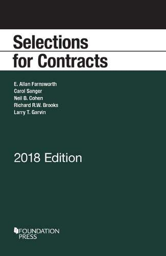 Download Selections for Contracts, 2018 Edition (Selected Statutes) 1640207333