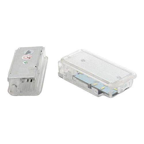 Boomboost 2pcs 18 SMD LED éclairage de Compartiment à Bagages Compartiment de Voiture Lampe d'éclairage intérieur pour Peugeot 1007 206 207 306 307 3008 406 407 5008