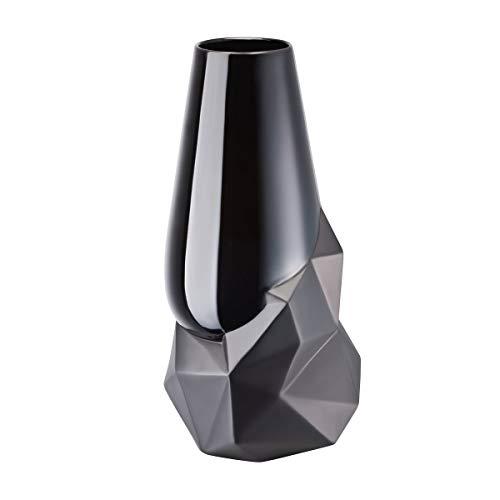 Rosenthal - Geode Schwarz - Vase - Blumenvase - Porzellan - Höhe 27 cm