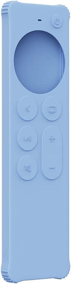 AWINNER Case Compatible for 2021 Apple TV Siri Remote (2nd Generation) - Lightweight [Anti Slip] Shock Proof Silicone Cover Compatible for 2021 Apple TV 4K and Apple TV HD (Blue)