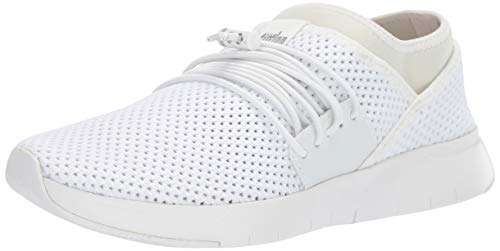 FitFlop Women's AIRMESH LACE UP Sneaker, Urban White, 10 M US