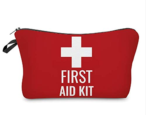 Red First Aid Bag Empty First Aid Kit Empty Waterproof First Aid Pouch Small Mini for First Aid Kits Pack Emergency Hiking Backpacking Camping Travel Car Cycling