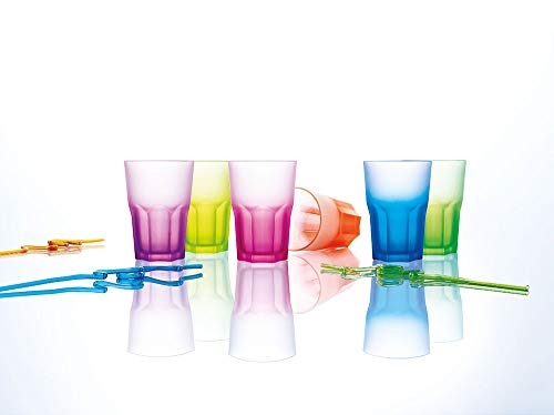 Luminarc 40 Cl Techno Colors Set de Vasos, Vidrio sodo, Distintos Colores, 18 cm