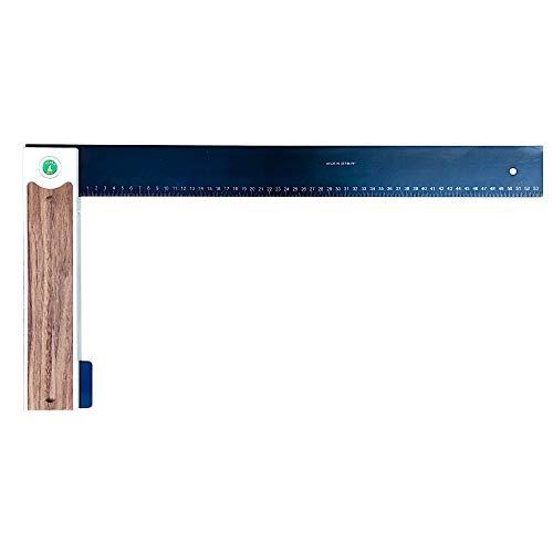 ULMIA Escuadra de precisión de carpintero de aluminio, 600 mm, precisión de medición ± 0,04 mm