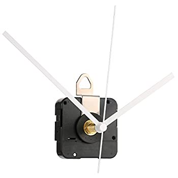 Hicarer 28 mm Long Shaft Quartz Clock Movement Clock Parts Repair Kit  White