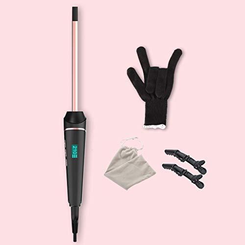 Hair Curler LCD Display Curling Stick keramisch materiaal Mini Type Thermostaat Hair Curler Unisex, Temperatuur (120 ° -230 °) 10MM Inclusief hittebestendige handschoenen