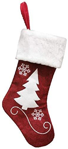 Mode Weihnachten schwarz rot Socken hängen Weihnachtsbaum Dekoration Ornamente Neujahr Candy Bag Geschenke Geschenke Socken Weihnachten Dekoration (Color : B),Farbe:B (Color : A),Colour:B QQQNE