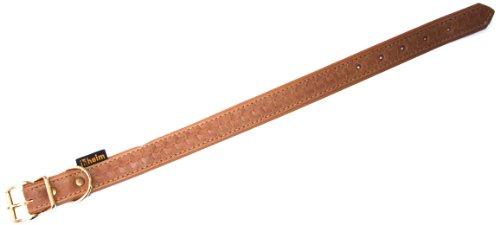 Heim 376830799M Tredi Collier en Cuir avec Motifs gravés Cognac 20 mm x 30 cm
