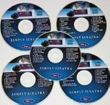 simplement Sinatra Ensemble de musique Maestro CDG karaoké Lot de 5disques 80Frank chansons