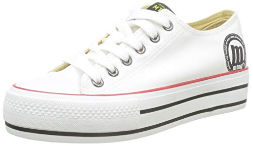 MTNG Attitude 69423 - Zapatillas para Mujer, Blanco (Canvas I222) 40 EU