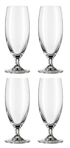 Bohemia Cristal 093 006 134 Bierpokal ca. 0,4 ltr. aus Kristallglas 4er Set