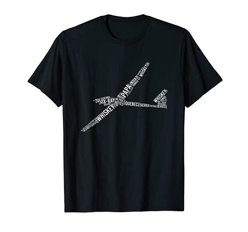Segelflugzeug BZF Alphabet Piloten Segelflieger Sprechfunk T-Shirt