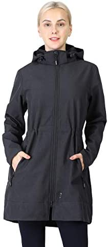 Outdoor Ventures Women s Softshell Jacket with Removable Hood Fleece Lined Windbreaker Insulated product image