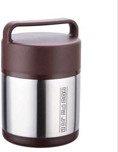 Nenka Termo de acero inoxidable, recipiente para alimentos, sin BPA, termo con cuchara plegable, para niños, adultos, fiambrera, escuela, camping al aire libre