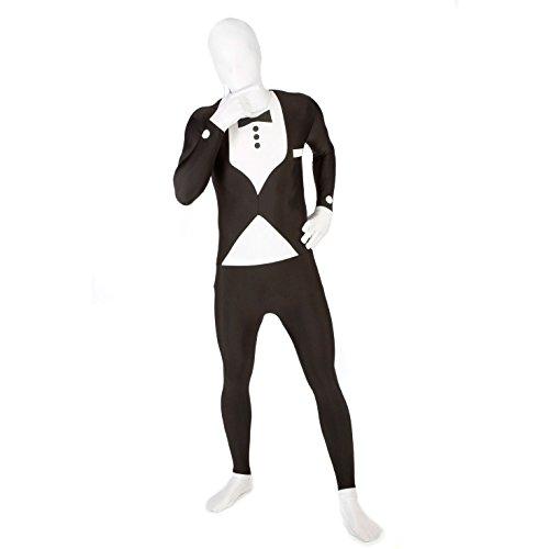 MSUIT Tweede Huid Halloween Fancy Jurk Kostuum Volwassen M pak Tweede huid Body Suit M Tuxedo