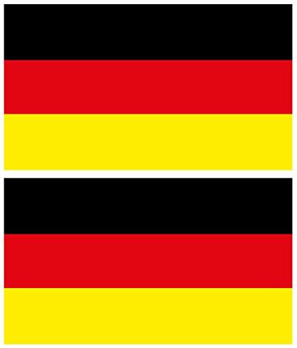4-prints 2 St. WM/EM-Aufkleber Flagge/Fahne Deutschland, 140x80mm, Vinyl