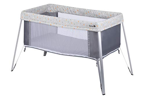 Safety 1st Globe Dreamer Lit Parapluie Bébé Compact/Evolutif Warm Gray