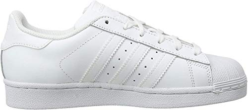 adidas Unisex-Kinder Superstar Foundation Low-Top Sneaker - Weiß (Ftwr White/Ftwr White/Ftwr White) , 38 2/3 EU