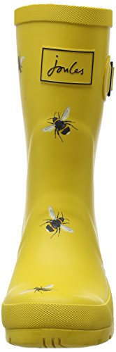 Joules Women's Molly Welly Wellington Boots, (Silver Yellow Harvest Floral), 6 UK 39 EU