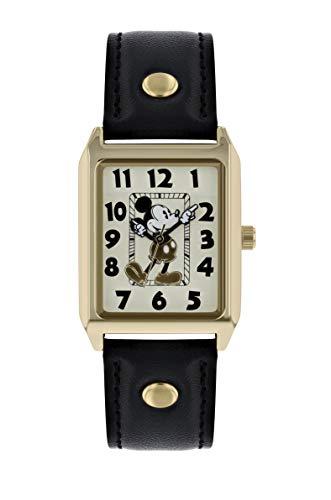 Mickey Mouse Reloj Analógico para Mujer de Cuarzo con Correa en Cuero MK1451