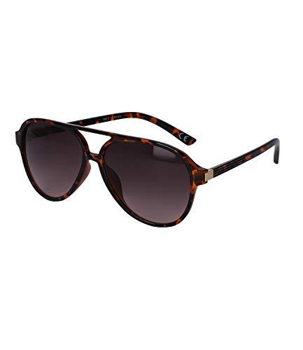 SIX Gafas de sol negras con diseño de tortuga y detalles dorados (437-535)
