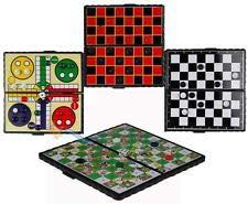 fap Juegos tradicionales de viaje tamaño magnético juegos de mesa conjuntos para niños adultos - Ludo, ajedrez, corrientes, serpientes y escaleras