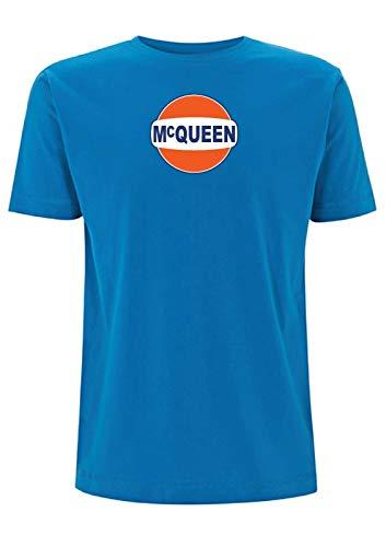 Steve McQueen T-SHIRT Racing is Life Lee Mans Porche Gulf Size S-4XL