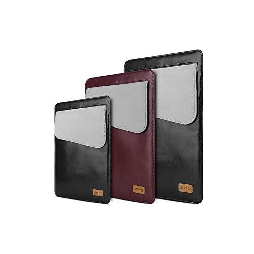 eNicer VPG - Funda de piel sintética para tablet o portátil de cualquier marca (11 pulgadas, 13 pulgadas, 15 pulgadas, 15 pulgadas, 15 pulgadas, bolsa de transporte con bolsillo delantero), color rojo