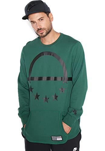 Nike Air Pivot V3 Crew T-Shirt pour Homme L Multicolore - Vert/Noir (Gorge Green/Black)