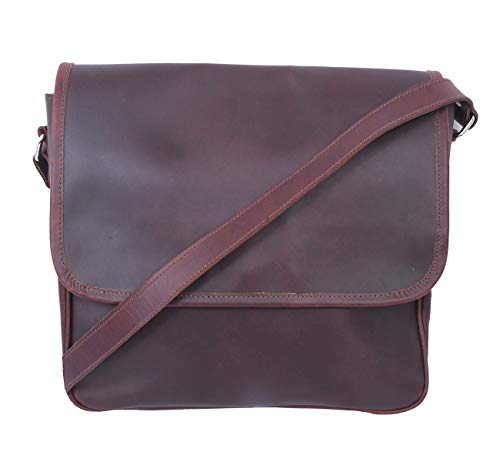 Celtic Buff Crazy Laether Messenger Bag (Leather Brown)