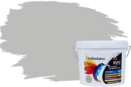 RyFo Colors Seidenlatex Trend Grautöne Perlgrau 6l - bunte Innenfarbe, weitere Grau Farbtöne und Größen erhältlich, Deckkraft Klasse 1