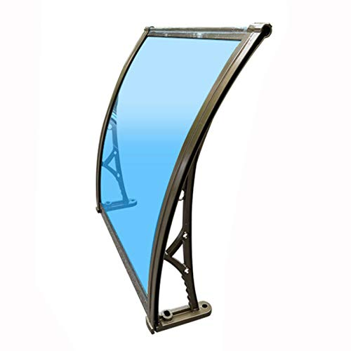 Awning Rain Door Canopy, Outdoor Home Balcony Windows The Roof Of The Small Courtyard, Rainproof And Silent Aluminum Alloy Bracket, 4 Bracket Colors PENGFEI ( Color : Champagne , Size : 60cmx80cm )